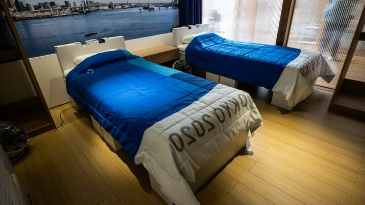 Tokyo Olympics: First look inside athletes' village including recyclable cardboard beds