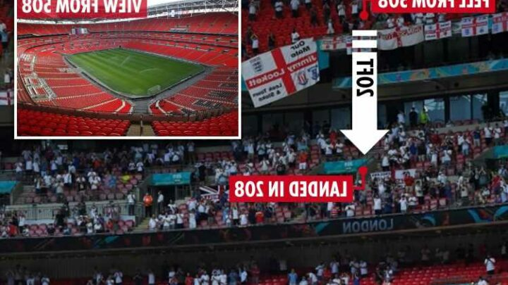 Traumatised' England fans relive Aston Villa supporter's 'horrific' 20ft Wembley fall onto concrete at Euro 2020 match