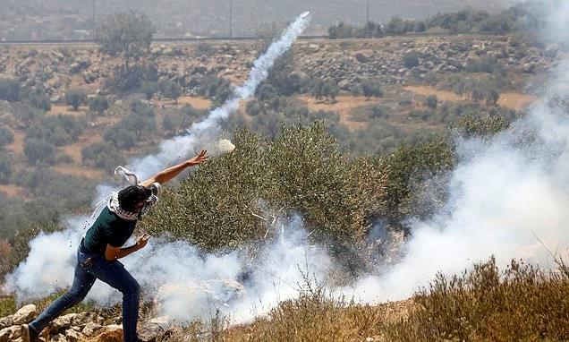 Violence erupts in West Bank during protest over Jewish settlements