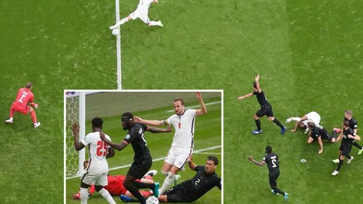 Watch Harry Kane miss 'sitter' on brink of half-time with England fans in agony at Euro 2020 against Germany