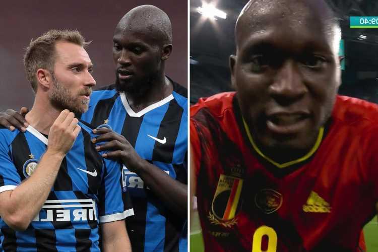 Watch Romelu Lukaku score for Belgium against Russia and dedicate goal to Inter Milan team-mate Christian Eriksen