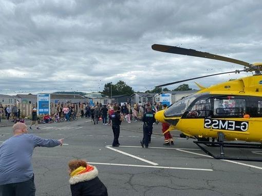 Air ambulance called to 'serious incident' at holiday park amid stabbing report
