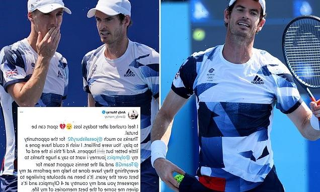 Andy Murray left 'crushed' after his men's double defeat in Tokyo