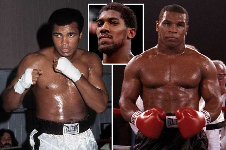 Anthony Joshua reveals how Mike Tyson would have beaten Muhammad Ali with 'science' on his side – The Sun