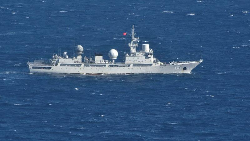 Australia 'very wary' of Chinese spy ship sitting off Queensland coast