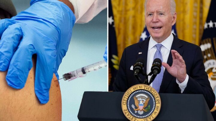 Biden pushes $100 payment to Covid vaccine recipients as he orders federal workers MUST be jabbed or face regular tests