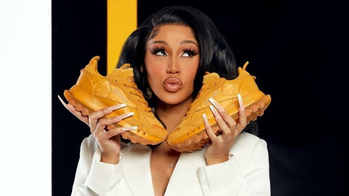Cardi B to Launch New Reebok Gold Sneakers TOMORROW — See Them NOW