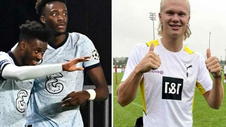 Chelsea 'fail in Erling Haaland transfer bid after Dortmund turn down offer including Abraham and Hudson-Odoi'