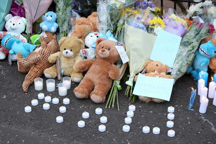 Devastated dad of baby stabbed to death says he is 'truly heartbroken' over tot's brutal 'murder'