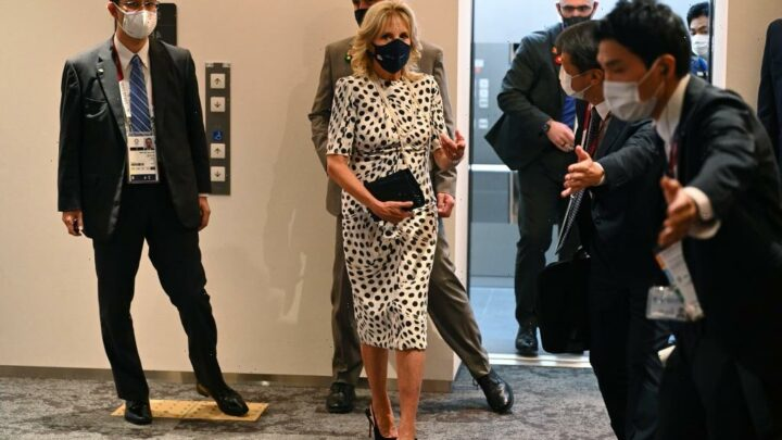 First Lady Dr. Jill Biden Made This $325 Clutch Sell Out, But We Spotted A Gorgeous $59 Dupe