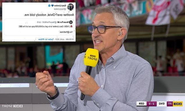 Gary Lineker jokes about £390,000 BBC salary cut in tweet