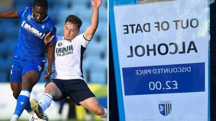 Gillingham selling 'OUT OF DATE' alcohol for £2 at Priestfield during pre-season friendly with Millwall