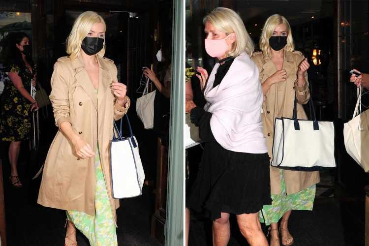 Holly Willoughby looks chic as she enjoys afternoon tea with her look-a-like mum Linda