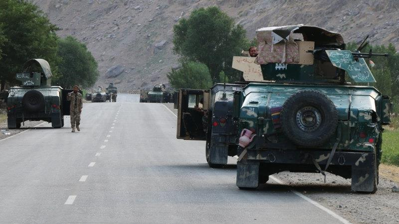 Hundreds of troops flee to Tajikistan as Taliban takes old US stronghold