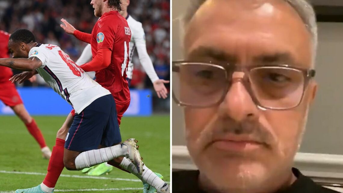 Jose Mourinho stunned by England's penalty decision vs Denmark but says 'fantastic' Three Lions deserved Euro 2020 win