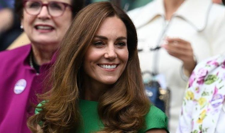 Kate Middleton stuns in green dress and matching floral mask at Wimbledon final