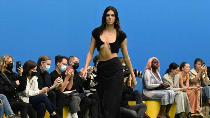 Kendall Jenner Returned to the Runway Wearing an Invisible String Cardigan