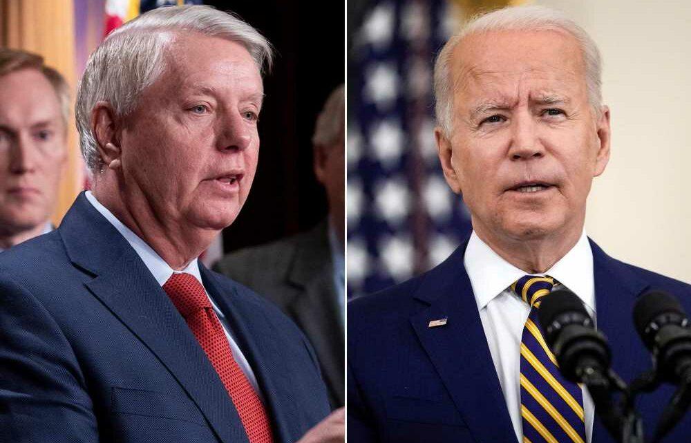 Lindsey Graham gives Biden failing grade on first six months as president