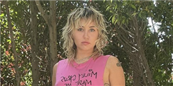 Miley Cyrus Just Wore a Very NSFW T-Shirt as a Dress