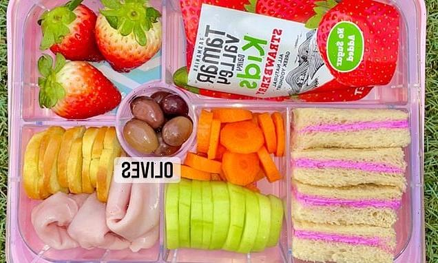 Mum makes PINK sandwiches for her little girl