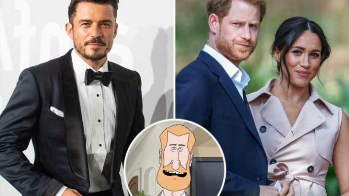Orlando Bloom makes shock move against neighbour Prince Harry as actor admits it's made him 'nervous'