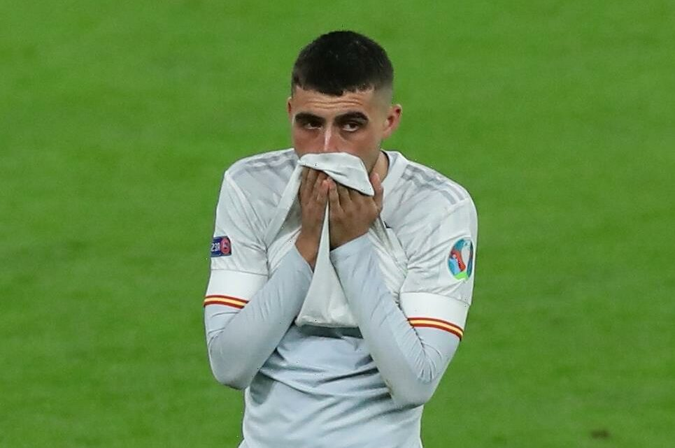 Pedri, 18, breaks down in tears after Spain's penalty shootout loss to Italy as Enrique compares him to Andres Iniesta