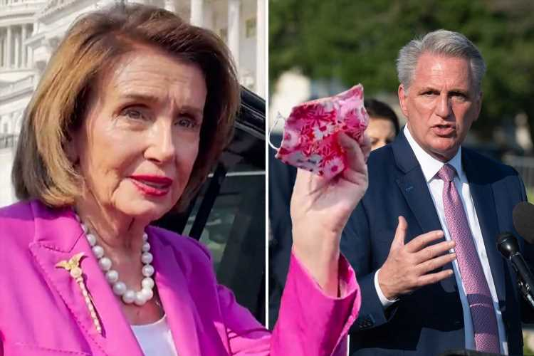 Pelosi blasted for branding Kevin McCarthy a 'moron' after GOP leader opposed new mask mandate for vaccinated Americans