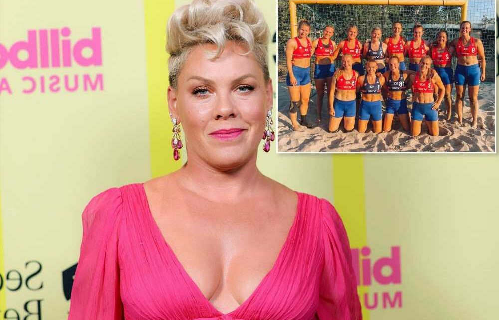 Pink offers to pay Norwegian handball players' fines for ditching bikini bottoms