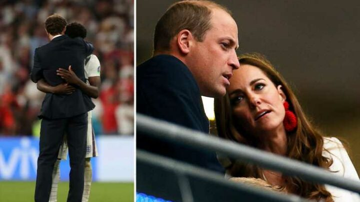 Prince William 'sickened' by 'totally unacceptable' racist abuse of England's Saka, Rashford & Sancho after Euros final
