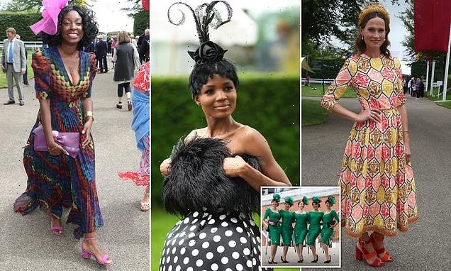Racegoers step out in finest frocks for return to Goodwood Festival
