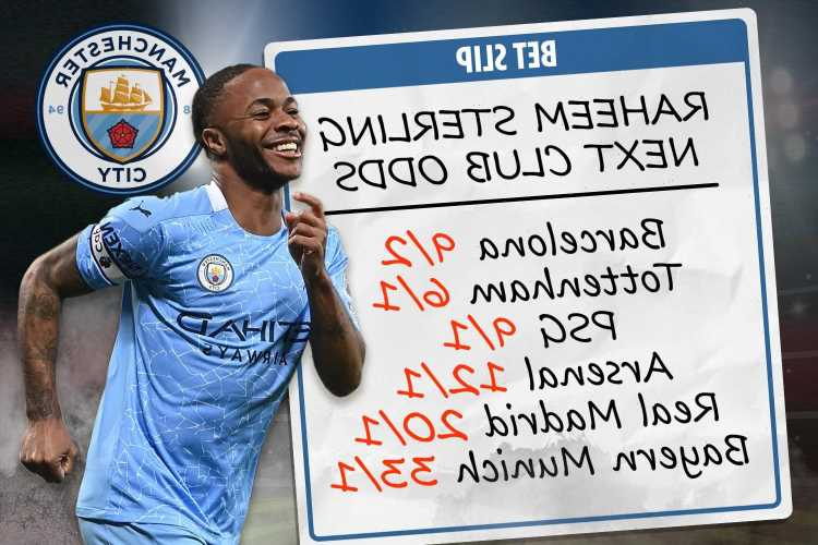 Raheem Sterling next club odds – Spurs lead Arsenal & Real Madrid for Man City and England star, Barca in transfer mix