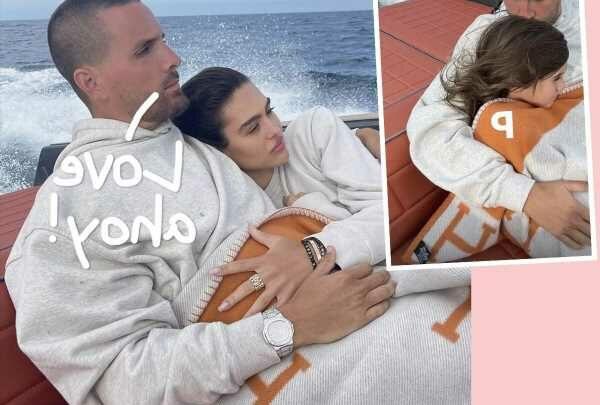 Scott Disick & Amelia Hamlin Get Cozy On Boat Outing Alongside 9-Year-Old Disick Daughter Penelope!