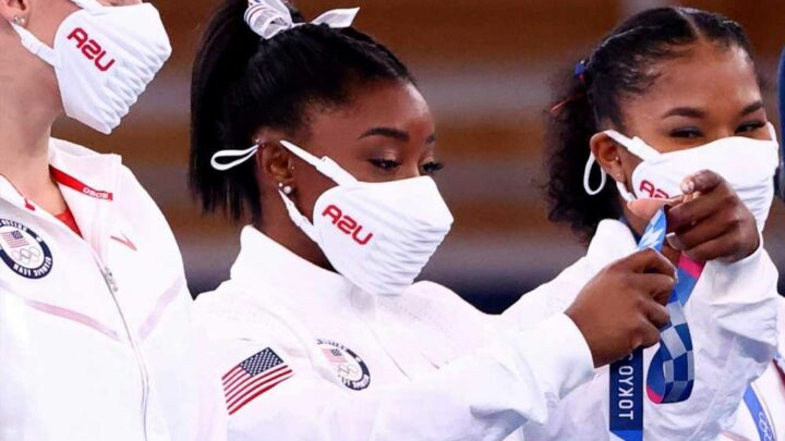 Simone Biles thanks teammates for 'stepping up when I couldn't'