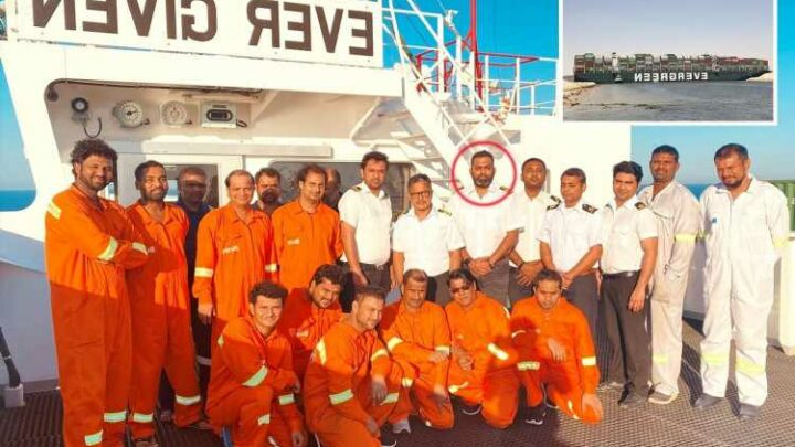 Suez Canal: Ever Given captain and crew pictured for first time since major waterway blocked sparking global trade chaos