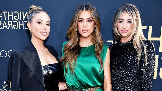 Sylvester Stallone's Daughters Sophia, 24, Sistine, 23, & Scarlet, 19, Rock Mini Dresses For Screening