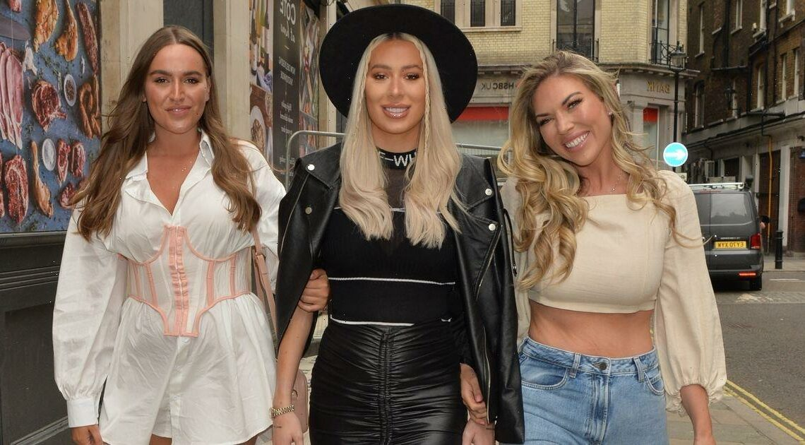 TOWIE's Frankie Essex wows in crop top on night out with Demi Sims and Chloe Ross