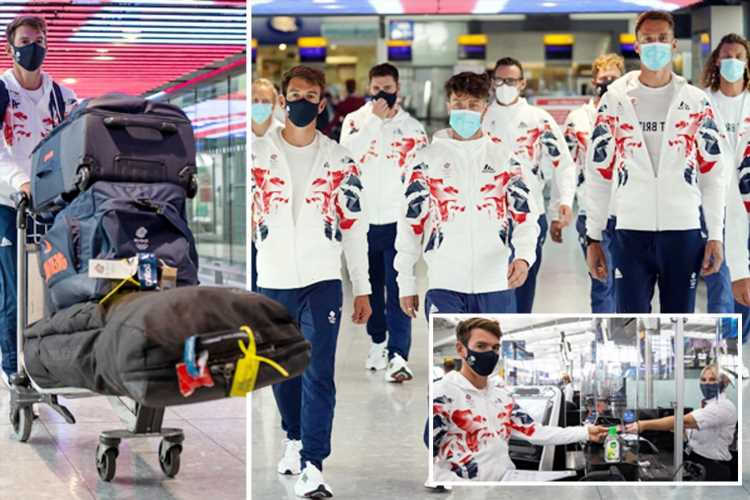 Team GB stars fly out to Japan from Heathrow for Tokyo Olympics with just over two-weeks until postponed games kick off