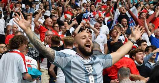 The shirts on England fans tell a story of suffering.