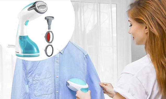 This handheld steamer banishes creases and wrinkles in minutes