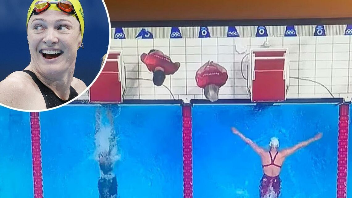 Tokyo 2020 swim controversy as footage appears to show Australian McKeon touching wall first but race declared dead heat