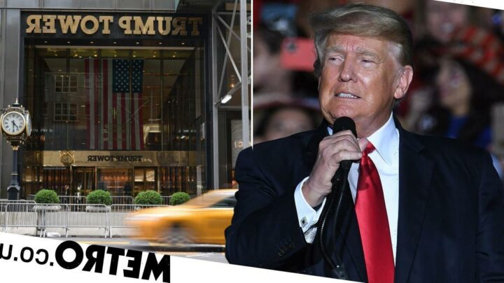 Trump lashes out at tax charges in fiery rally