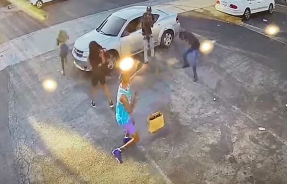 Video shows would-be LA robbery victim shoot his assailants