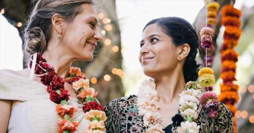 A 'Hippie Hindu' Wedding for a Cosmic Match