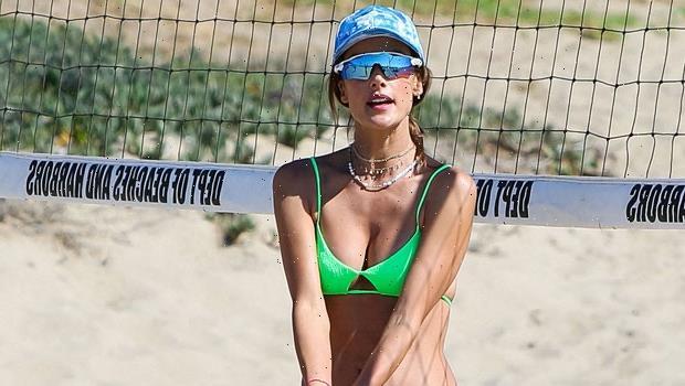 Alessandra Ambrosio Rocks Neon Green Bikini During Beach Volleyball Game With BF Richard Lee