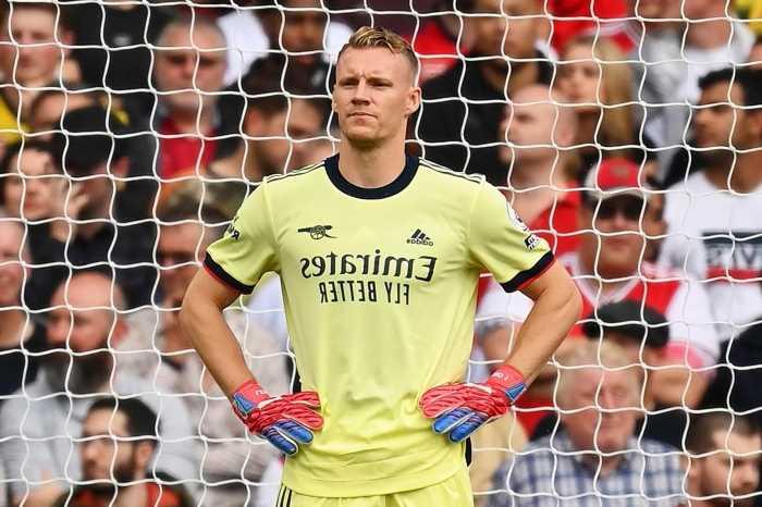 Arsenal bizarrely put Bernd Leno in AWAY SHIRT instead of goalkeeper kit leaving fans bemused