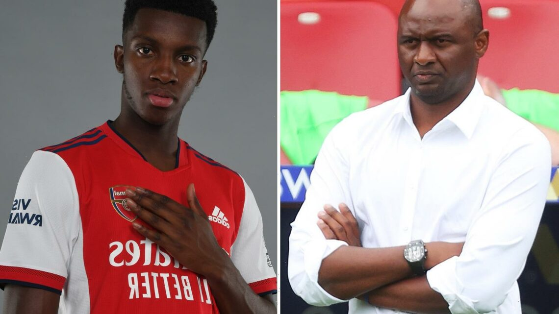 Arsenal legend Vieira wants Eddie Nketiah transfer as Crystal Palace boss plots cut-price £10m raid on former club