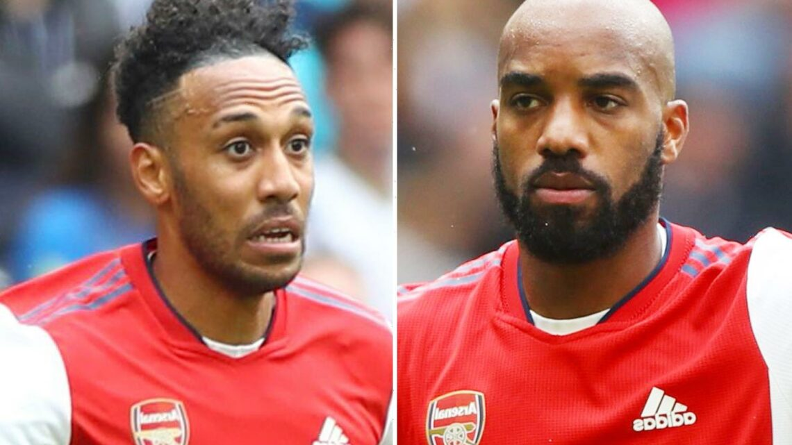 Arsenal stars Aubameyang and Lacazette 'set to MISS Brentford clash with illness' dealing Arteta early injury blow