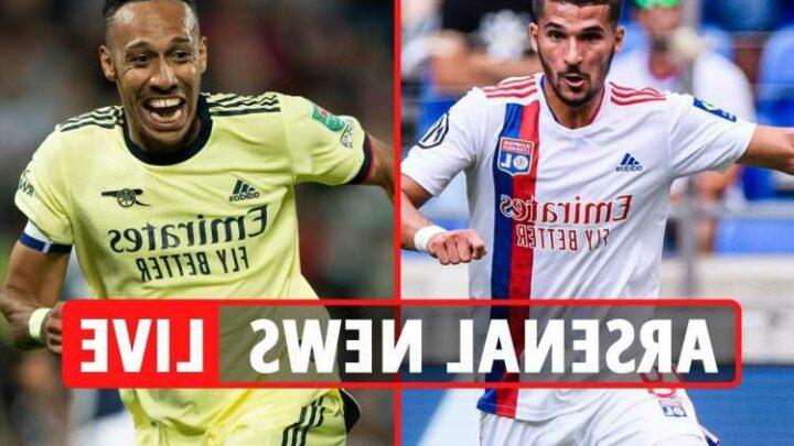 Arsenal transfer news LIVE: Aubameyang LATEST, Houssem Aouar loan-to-buy offered by Lyon, Saka injury update