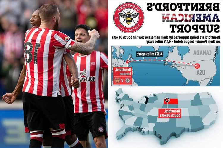 Brentford to be cheered on against Arsenal in first ever Premier League game by locals in American town of same name