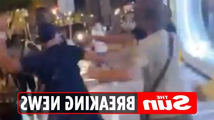 Brit Rapper Sneakbo' forced to flee after ugly confrontation in Marbella with thugs who kick and throw drink at him